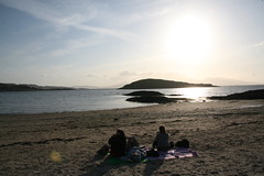 Fish and Chips on the Beach in Oban