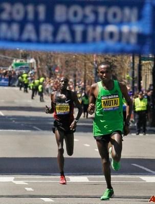 Mutai y Mosop en el maraton de Boston 2011