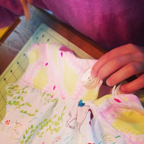 Oliver + S ice cream top Sarah Jane wee wander fabric