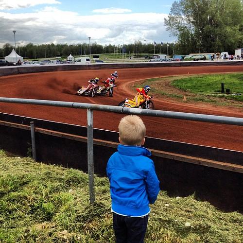 Speedway Lelystad met mijn kleine vriend!