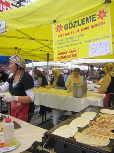 Turkish Gözleme food stall