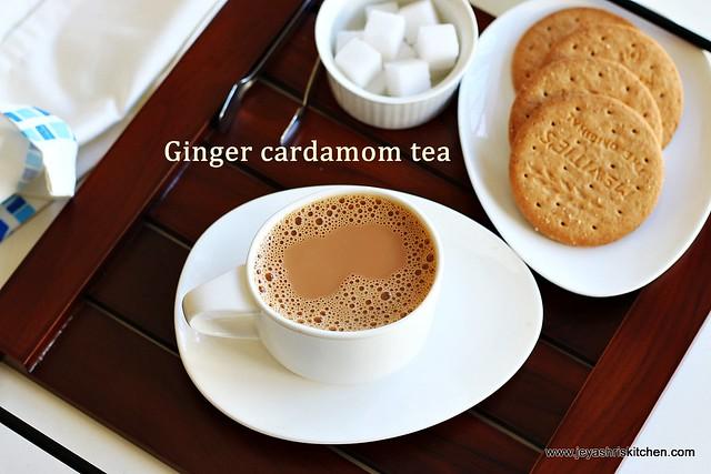 Ginger-cardamom tea
