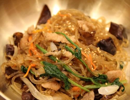 Japchae at Sariwon Korean Barbecue