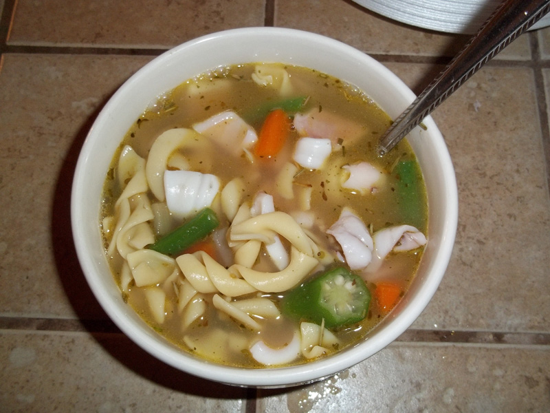 Squid soup!