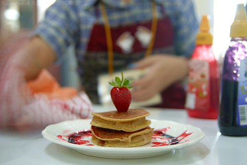 Strawberry on Pancakes!