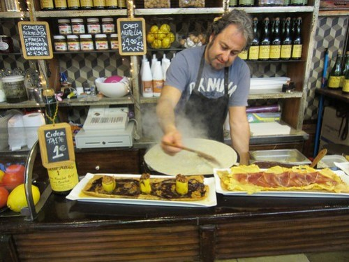 crepes guy at the boqueria