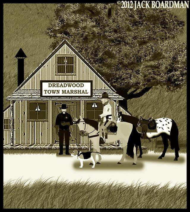 Marshal Kidd confronted Boomer Jack ©2012 Jack Boardman