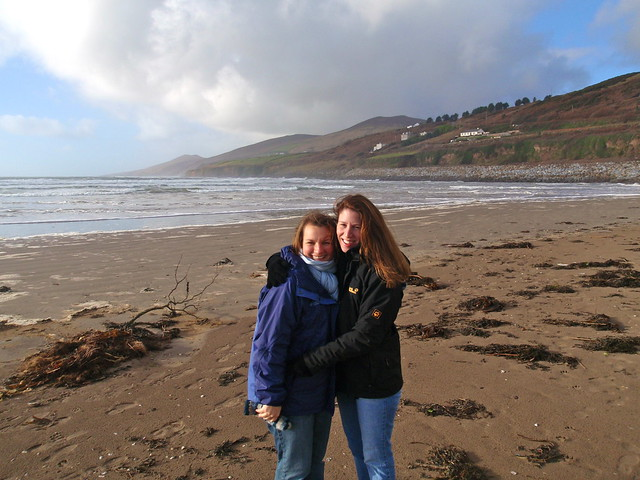 me & Tricia on Inch Beach