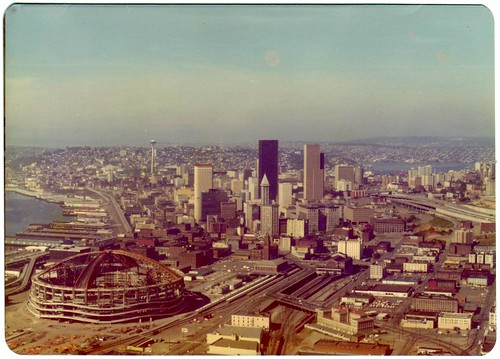 Kingdome and Seattle Skyline - 1975
