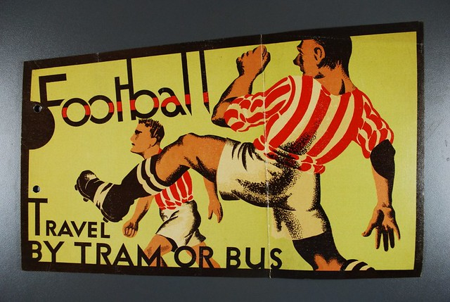 Thirties football travel poster