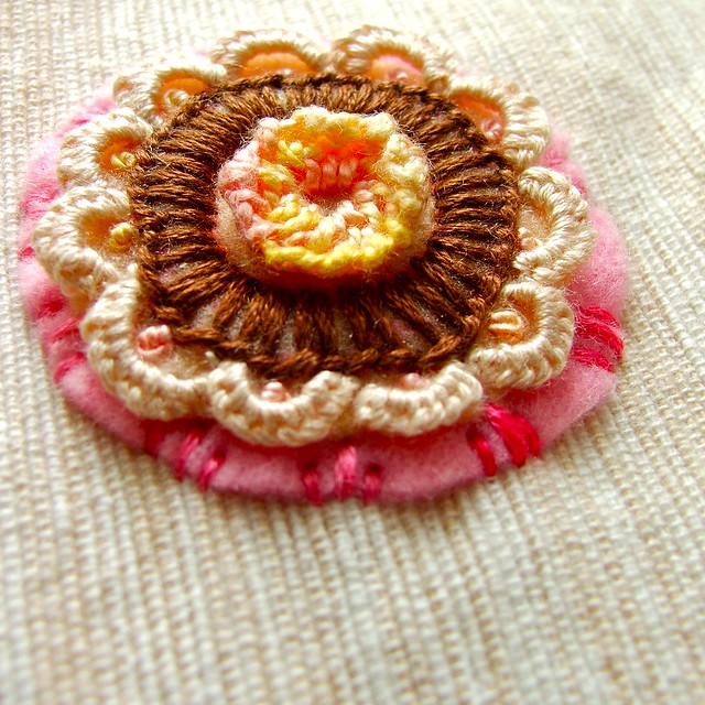 cookie, doily, flower...