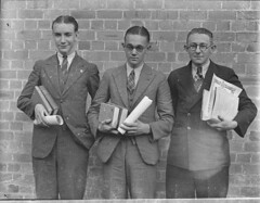 High school prize-winners, Canterbury Boys' High School. 9 May 1935, by Sam Hood