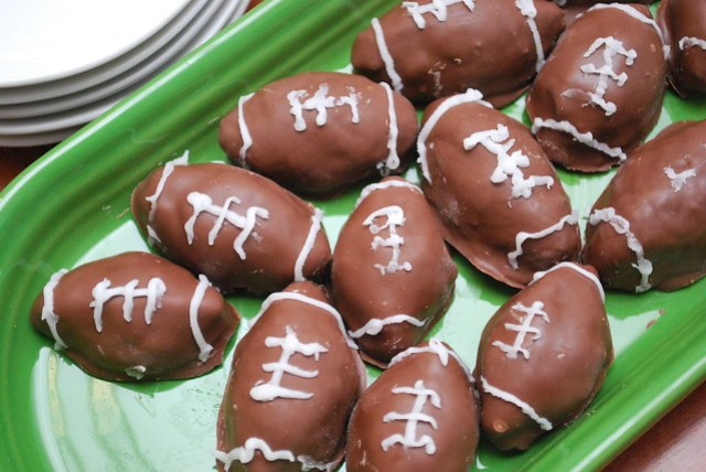 Mini Football Cake Balls