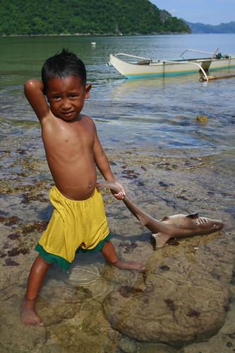 Kid and shark - El Nido