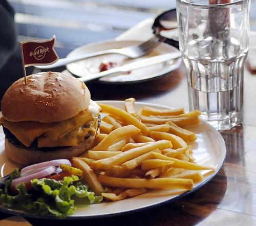 Burger at Hardrock Cafe
