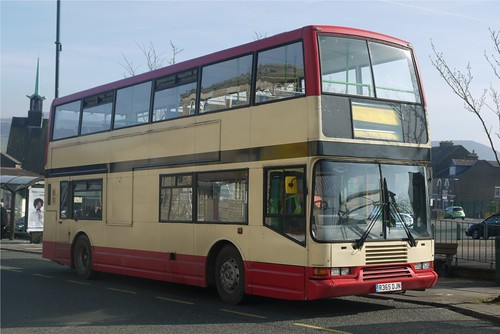 Volvo Olympian R365 DJN, Stotts of Oldham, Mossley Market Place