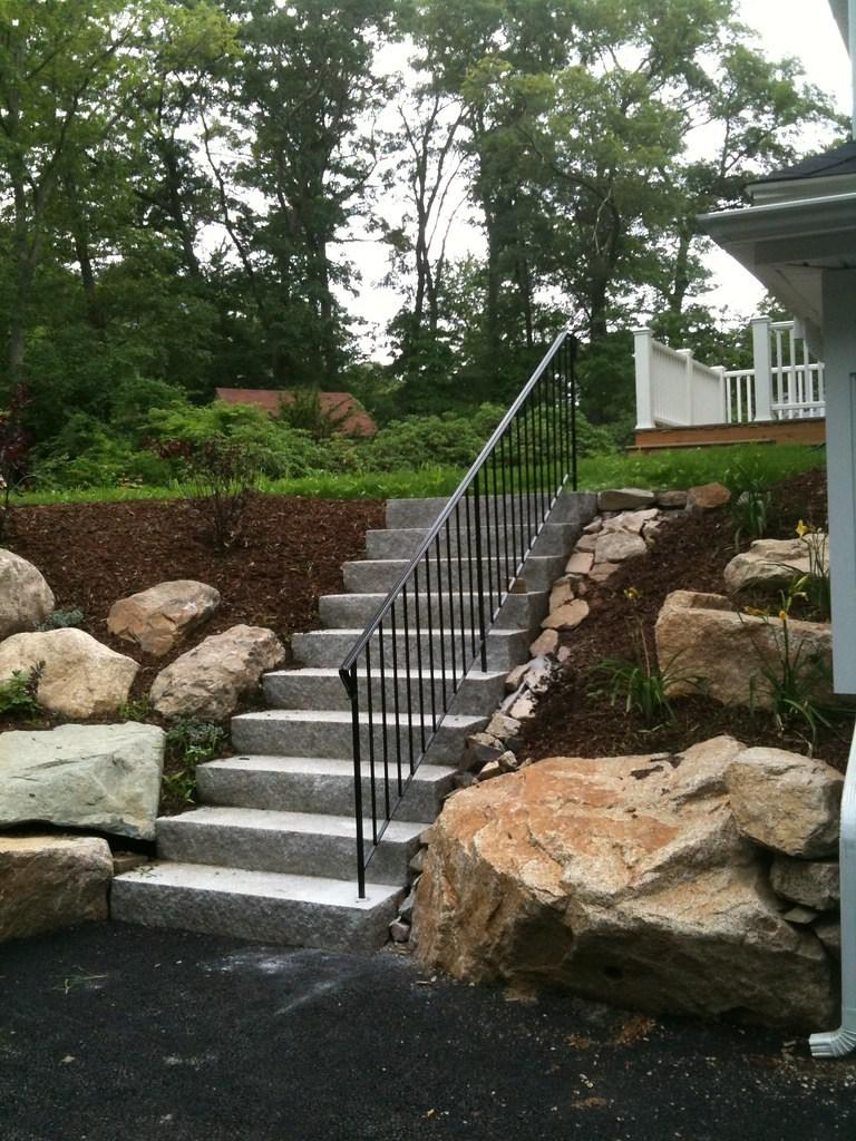 Railings Means Precast | Installing Railing On Stone Steps