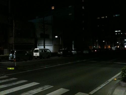 熊谷市内17号国道渋滞中