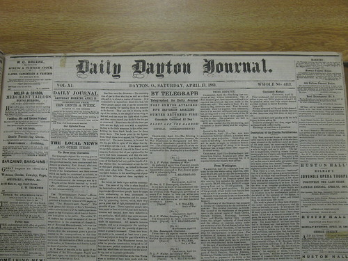 Daily Dayton Journal, 14 Apr 1861