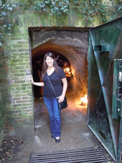 Jen at the North Caves entrance