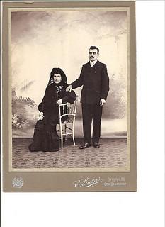 Boda de Constantino Crespo Ortiz y Marina Cardama. San Sebastián 01-06-1904