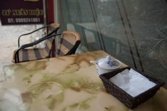Cafehaus-Tisch auf der Xuan Dieu