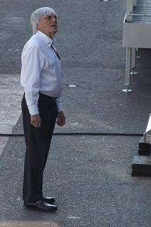 Bernie Ecclestone inspecting the Paddock Club