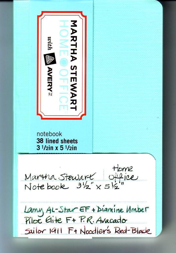 Martha Stewart Small Notebook