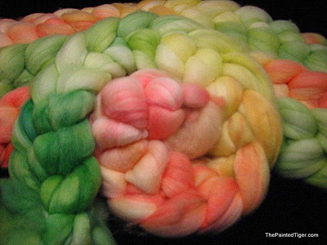 Hibiscus Gradient - Superwash Merino Hand Dyed Wool Roving