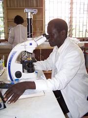George Omondi, ILRI laboratory technician