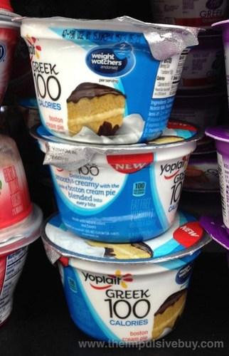 Yoplait Greek 100 Calories Boston Cream Pie Yogurt