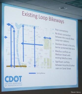 Mike Amsden describes bikeway component of the Central Loop BRT project