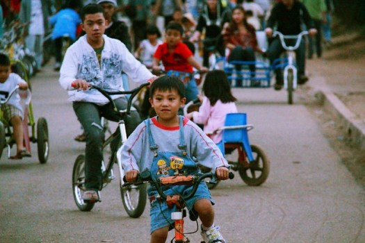 Biking at Burnham Park, Baguio