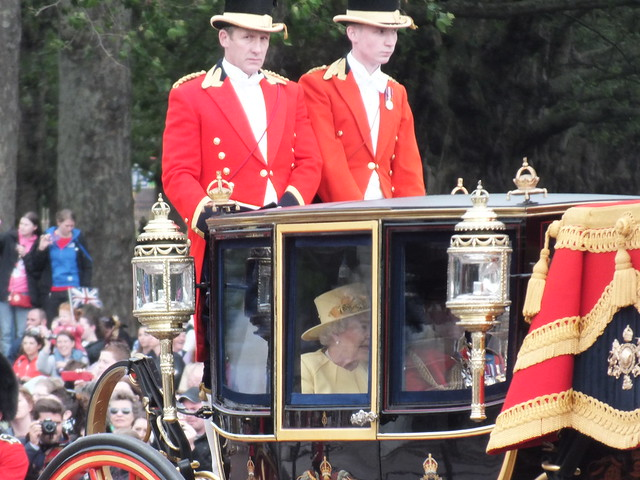 Queen Elizabeth II at Trooping the colour 2012