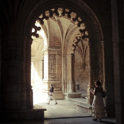 In the heart of the Monastery (Mosteiro dos Jeronimos (Belem), Lisbon, Portugal) -Photo : Gilderic