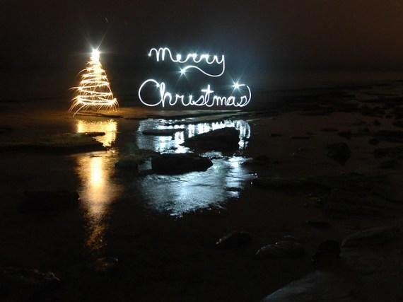 christmas light painting