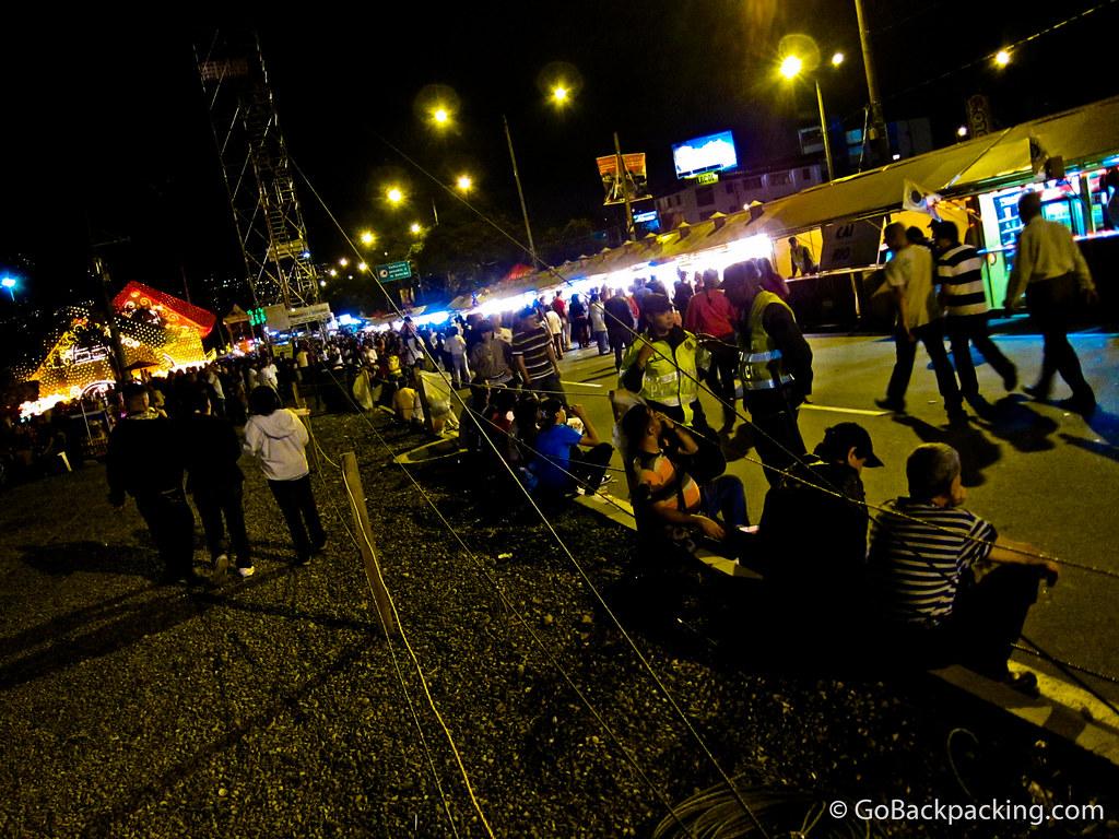 Street party by Rio Medellin