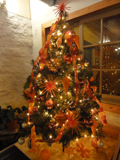 Orange And Brown Christmas Decorations