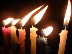 The candles of the Menorah at Hanukkah in Israel by RonAlmog on Flickr