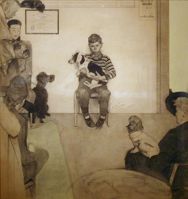 Boy in Veterinarian's Office