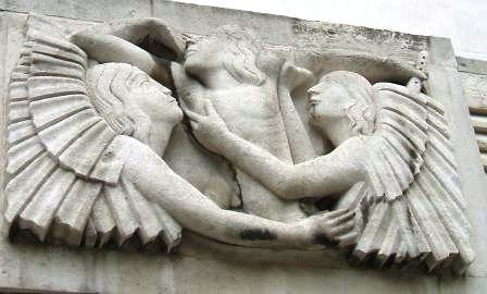 Broadcasting House, artwork by Eric Gill