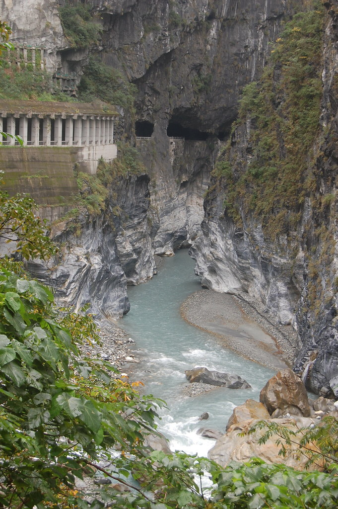 View From Swallow Grotto in Taroko Gorge