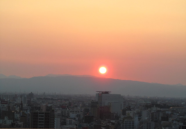 Sunset in Nagoya, 28th March 2011