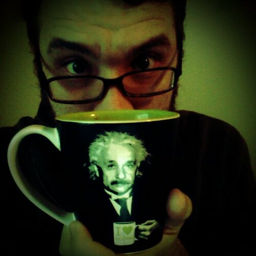 Einstein and I like to hang out in the mornings...