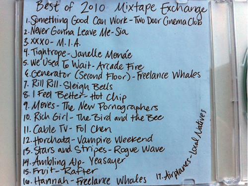 #bestof2010mix tracklist