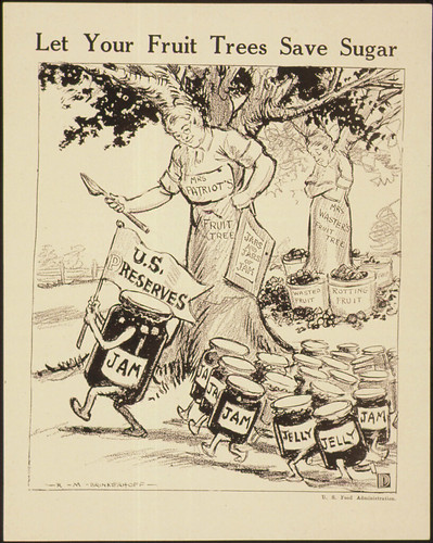 """""""Let Your Fruit Trees Save Sugar."""", ca. 1917 - ca. 1919"""