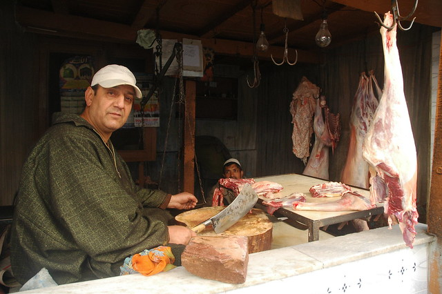 The butcher, Srinagar, Kashmir, India