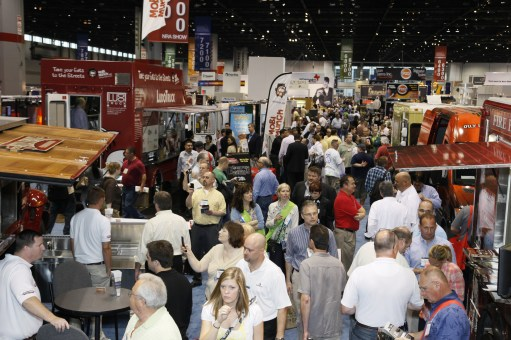 NRA National Restaurant Association Trade Show in Chicago Fair Models Modeling Agency Agencies Marketing Crowd Halls Busy