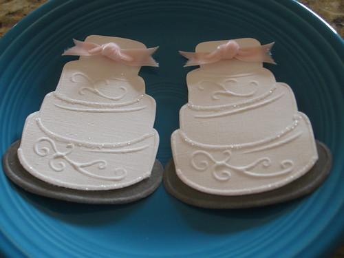 Elegant Wedding Cake handmade embellishments