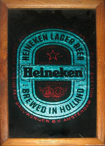 20120526 - yard sale booty - 1 - Heineken Mirror close-up - IMG_4266